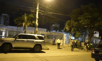 Casa donde ocurrió el robo en la noche del domingo.