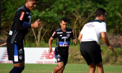 Germán Gutiérrez en acción en la práctica de ayer.