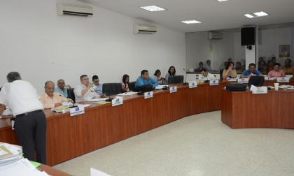 Aspecto de la sesión ordinaria del Concejo de Barranquilla realizada ayer.
