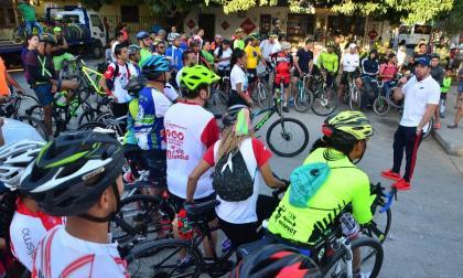 Más de cien ciclistas participaron en el ciclopaseo de Soledad