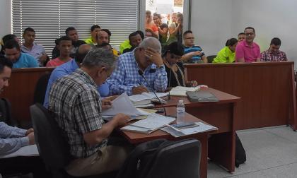 Aspecto de las audiencias preliminares en el Centro de Servicios de los presuntos miembros de 'los Papalópez'.