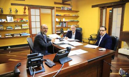 Gobernador Verano; el ministro de Minvivienda, Camilo Sánchez, y el viceministro de Agua, Jorge Carrillo.