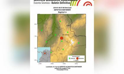 Sismo de magnitud 5.4 se sintió en varias zonas del país