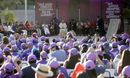 El papa Francisco durante su visita a Chile.