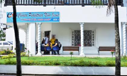 En esta clínica ubicada en el barrio La Ford, en Sincelejo, permanece internado el recién nacido.