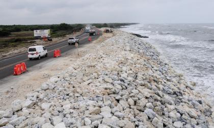 Kilómetro 19, uno de los puntos críticos de la vía que comunica a Barranquilla con Ciénaga.