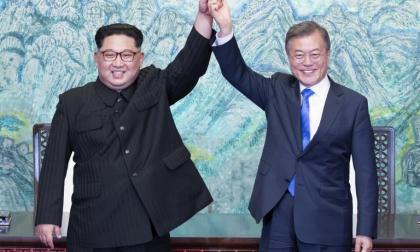 Kim Jong Un, y Moon Jae-in.