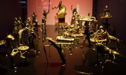 Estatuillas del reino de Dahomey, en el museo Quai Branly de París.