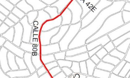Por mantenimiento de vías, cierran la calle 80B con carrera 42E