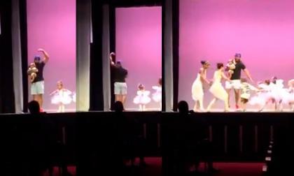 En video   Niña sufre de pánico escénico en pleno show y miren cómo reaccionó su padre