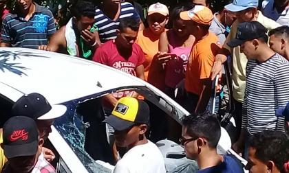 Vehículo accidentado