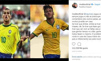El mensaje de Rivaldo para Neymar sobre sus contínuas caídas