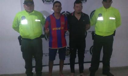 Los capturados por la Policía del Atlántico.