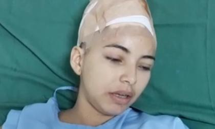 Kenede Susana Vega, agredida.