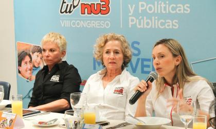 De izquierda a derecha: Mónica Schraer, presidenta de Nu3; Francis Zylberblum, vicepresidenta, y Cindy Durán, directora.