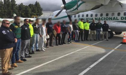 Los capturados en la operación 'Embajador', en la fotografía de reseña de las autoridades.