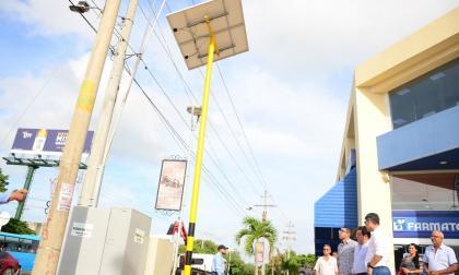 Santa Marta tiene 25 semáforos con sistema de energía solar