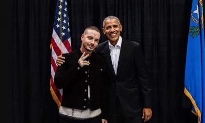 J Balvin junto a Obama.