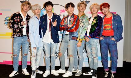 Integrantes de la banda surcoreana de K-pop, BTS.