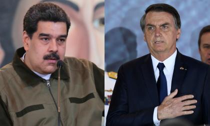 Nicolás Maduro y Jair Bolsonaro.