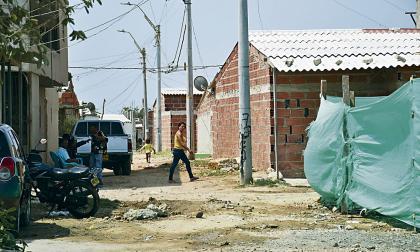 Sitio en El Pueblo, donde ocurrió el asesinato de Rosemberg Rodríguez Larios, de 25 años.