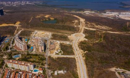 Panorámica del sector de Riomar, donde se aprecia el estado actual de la  cra 65.
