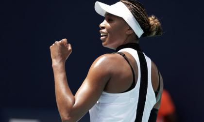 Venus Williams avanza a tercera ronda en Miami
