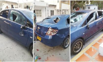 En video | Joven destroza a batazos el carro de un pastor evangélico en Las Palmas