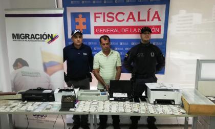 Gerardo Antonio Rodas Osorio, capturado.