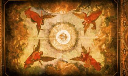 Los ángeles de la cúpula de San Nicolás de Tolentino, la primera iglesia de Barranquilla, construida en el siglo XVII.