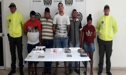 Cinco capturados con droga en diferentes allanamientos en Sabanagrande