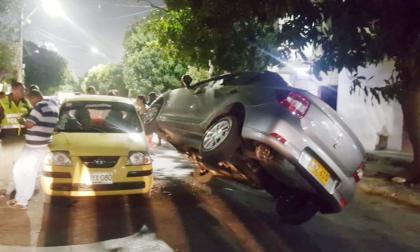 Aparatoso accidente de tránsito en Nueva Granada