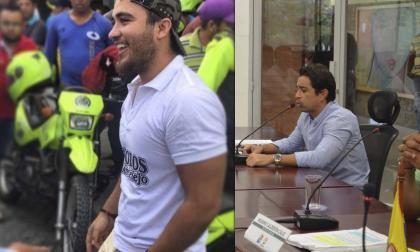 José González, víctima del atentado y Jorge Mario Hernández, diputado.