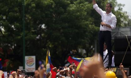 """""""Seguiremos en las calles"""": opositores venezolanos acogen nuevo llamado de Guaidó"""