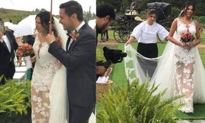 Familia de Colmenares habla sobre fotos del matrimonio de Laura Moreno