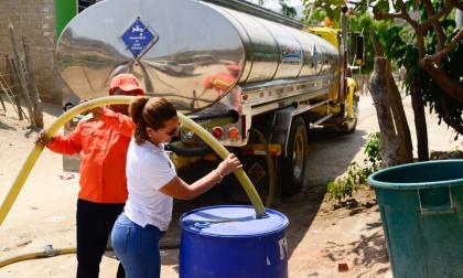 163 barrios de Santa Marta han recibido 36 millones de litros de agua en carrotanques