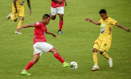 Stiwart Acuña, atacante del Barranquilla FC.