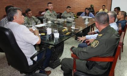 El consejo extraordinario de seguridad se efectuó en la Gobernación de Sucre.