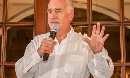 Andrés Pastrana, expresidente de Colombia y líder del partido Conservador, en el Club ABC en Barranquilla.