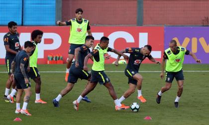 Brasil se entrena por primera vez en Sao Paulo de cara a su debut ante Bolivia