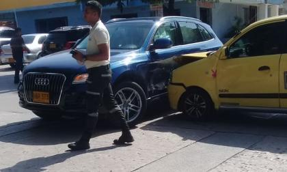 La situación fue atendida por la Policía de Tránsito.