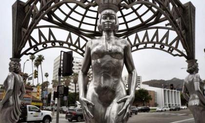Estatua Marilyn Monroe.