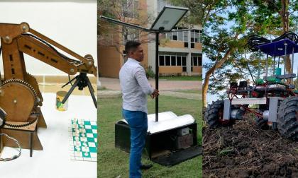 En Unimag crean carro robot, un árbol ecológico y brazo robótico para ajedrez