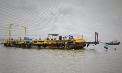Tierrabomba sin gas por rotura en línea subacuática