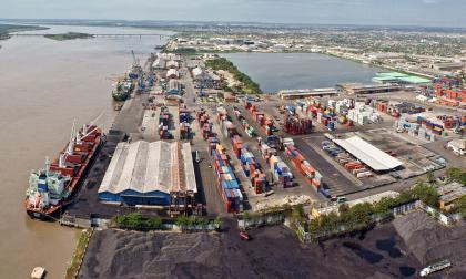 Instalaciones del Puerto de Barranquilla.