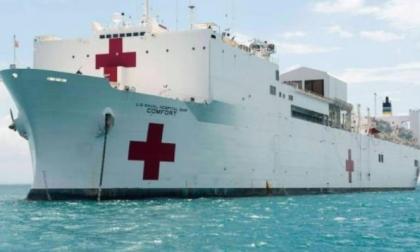 El buque Comfort de la Armada de Estados Unidos.