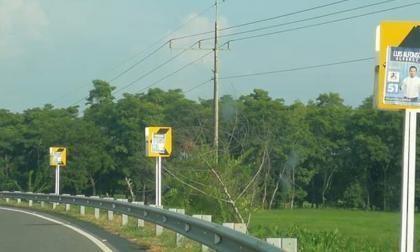 Así lucen las señales de tránsito y prevención en el sur de Sucre.