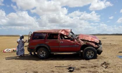 La camioneta accidentada el 10 de febrero pasado. Falleció el ciudadano holandés Alexander Michalski, 64 años.