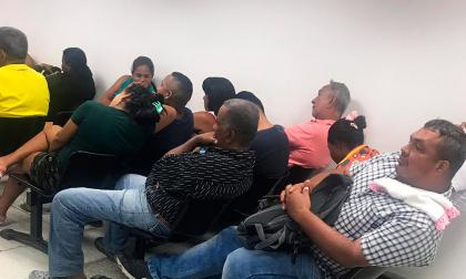 Capturados durante una de las redadas en el Centro de Servicios judiciales de Cartagena.