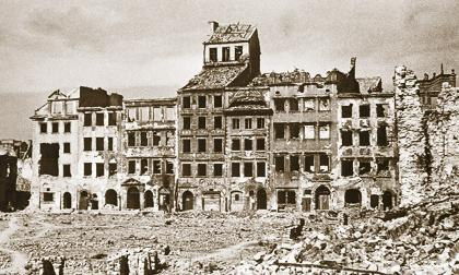 La ciudad de Wielun en Polonia quedó en ruinas tras el bombardeo de la fuerza aérea de Alemania, el 1 de septiembre de 1939.
